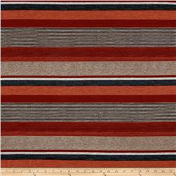 Sydney Stretch Crepe Knit Stripe Red/Multi