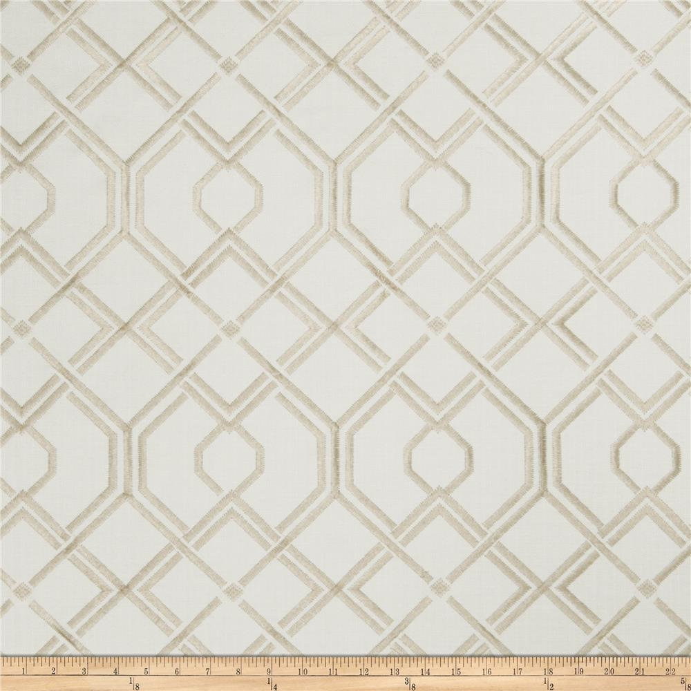 Fabricut Culmans Embroidered Basketweave Natural