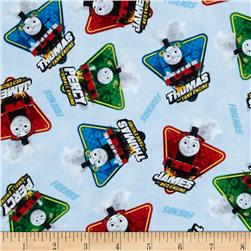 Fast Friends! Character Toss Blue Fabric