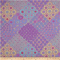 Kaffe Fassett Fall 2011 Sateen Tile Flowers Turquoise