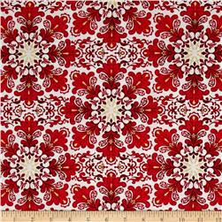Christmas Splendor Medallion Snowflake Cream
