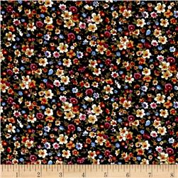 Corduroy Flowers Black Multi