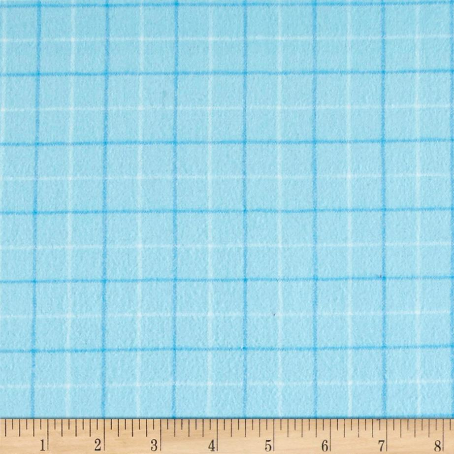 Local Color Yarn Dyed Flannels Tattersall Light Blue Fabric