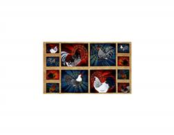 Rise & Shine Rooster Patches Panel Multi