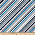 Riley Blake Play Ball 2 Stripe Blue