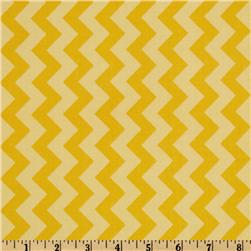 Riley Blake Chevron Small Tonal Yellow Fabric