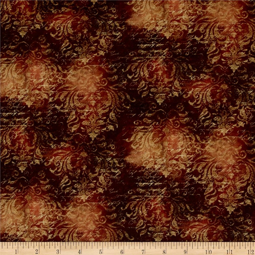 Mia Sonoma County Digital Print Damask Rust