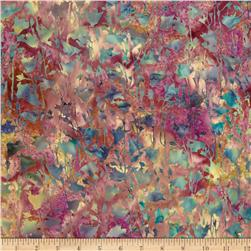 Bali Batiks Handpaints Pressed Flowers Belle Fabric