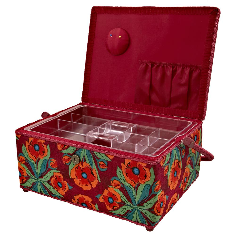 Sewing Basket Rectangle Red