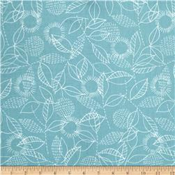 Cloud 9 Organic Double Gauze Threads Backstitch Blue