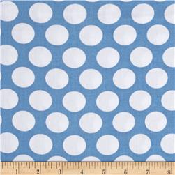 Kaufman Little Prints Double Gauze Dots Blue/White