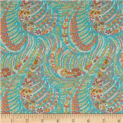 Liberty of London Tana Lawn Oscar Aqua/Red