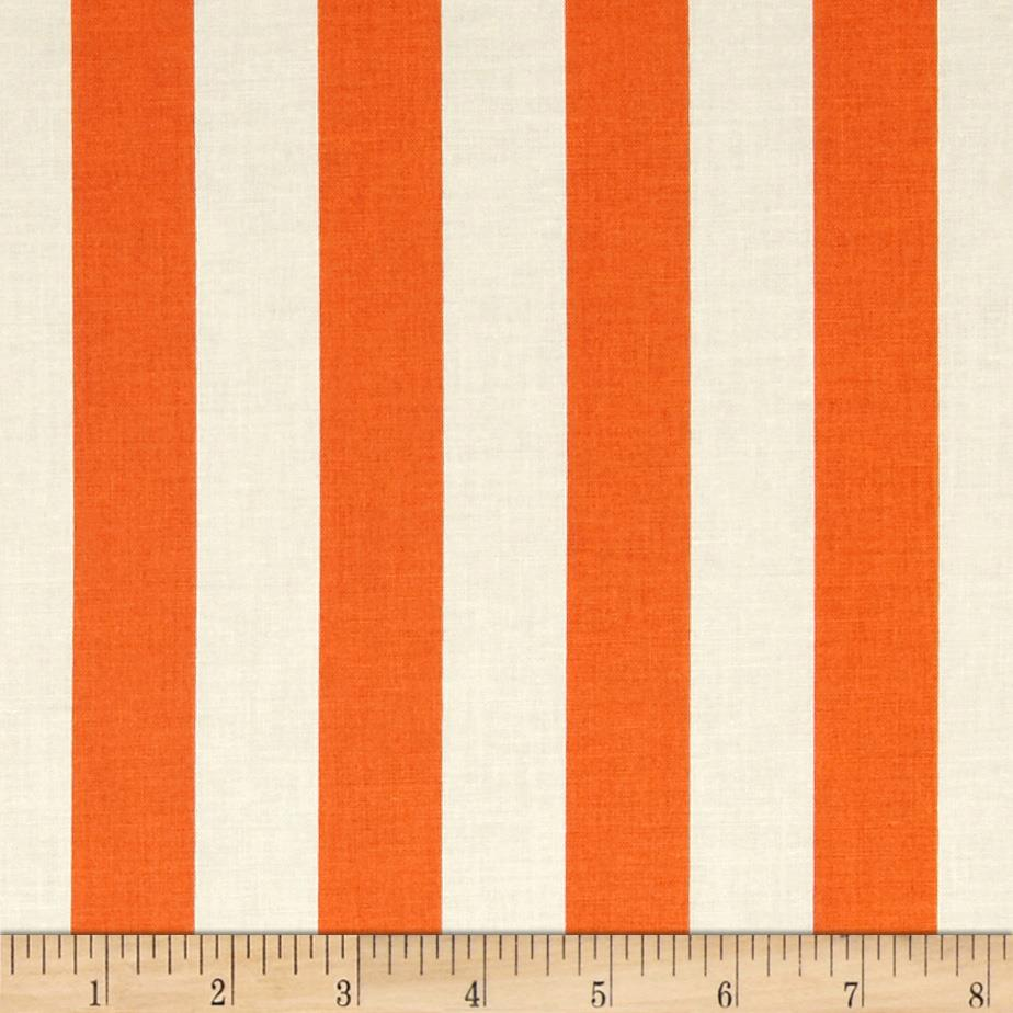 "Riley Blake Le Creme Basics Medium 1"" Stripe Orange/Cream"