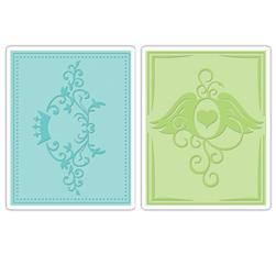 Sizzix Textured Impressions Embossing Folders 2 Pack-Crown