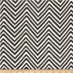 Chiffon Zig Zag Black/White Fabric