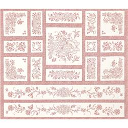 Robert Kaufman Pretty Posies 36 In. Panel Red