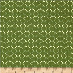 Monterey Dotted Arcs Olive Green
