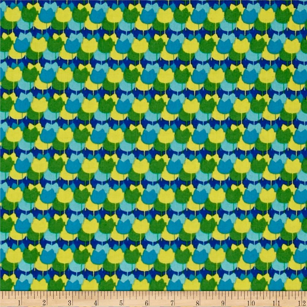 Windham Spring Bloom Tulip Stripe  Blue