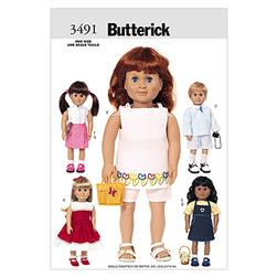 "Butterick 18"" (46cm) Doll Clothes Pattern B3491 Size OSZ"