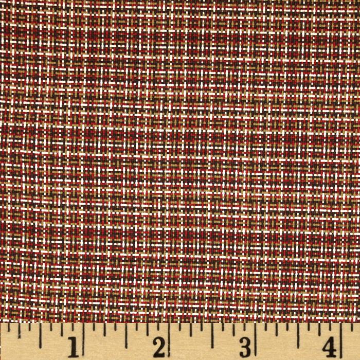 Harper Home Tweed Basket Weave London Red