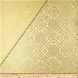 World Wide Rigel Metallic Geo Satin Jacquard Butter