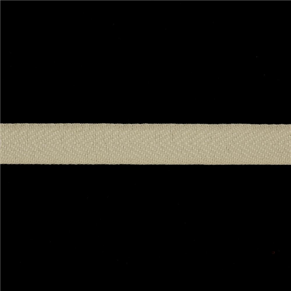 3/4'' Poly Twill Tape Ribbon Ivory