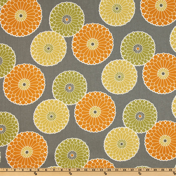 Richloom Indoor Outdoor Springdale Graphite Home Decor Fabric