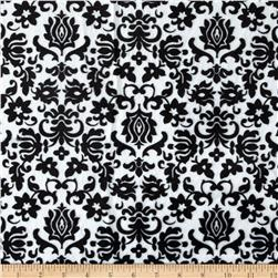 Minky Tulip Damask Black/White Fabric