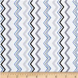 Midnight Chevron White
