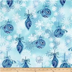 Winter Frost Ornaments & Snowflakes Aqua