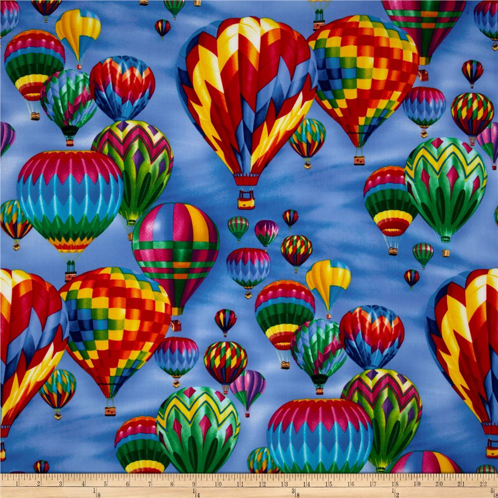 Timeless Treasures Hot Air Balloons Brite