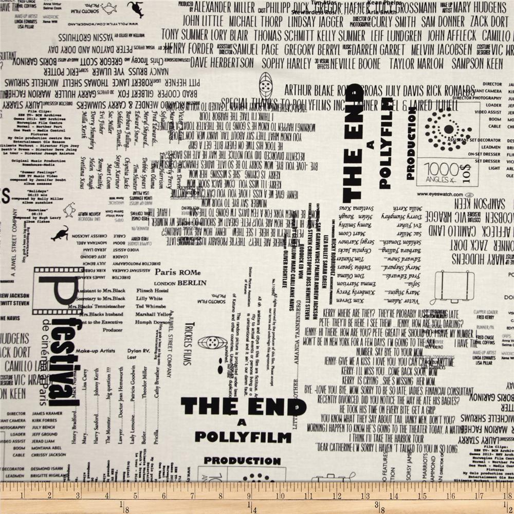 Moda Reel Time The End Chalk/Ink