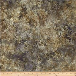 108'' Wide Tonga Batik Quilt Backing Viney Leaf Taupe