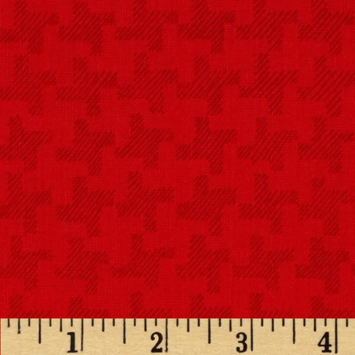 Jams & Jellies Houndstooth Red
