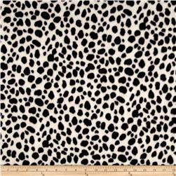 Fleece Prints Cheetah Black/White