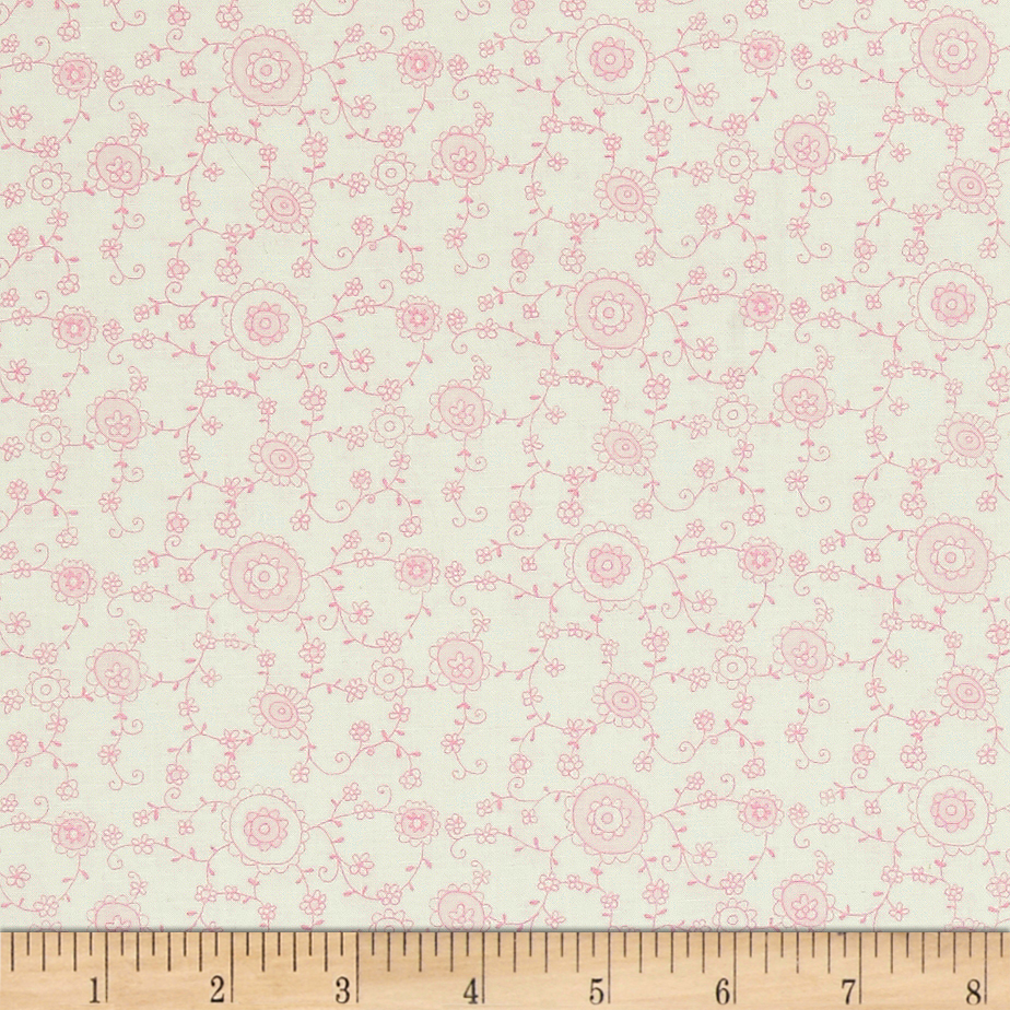 A Bundle of Pink Floral Vine Light Pink Fabric by Red Rooster in USA