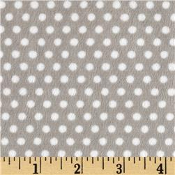 Shannon Minky Cuddle Classic Swiss Dot Silver/White
