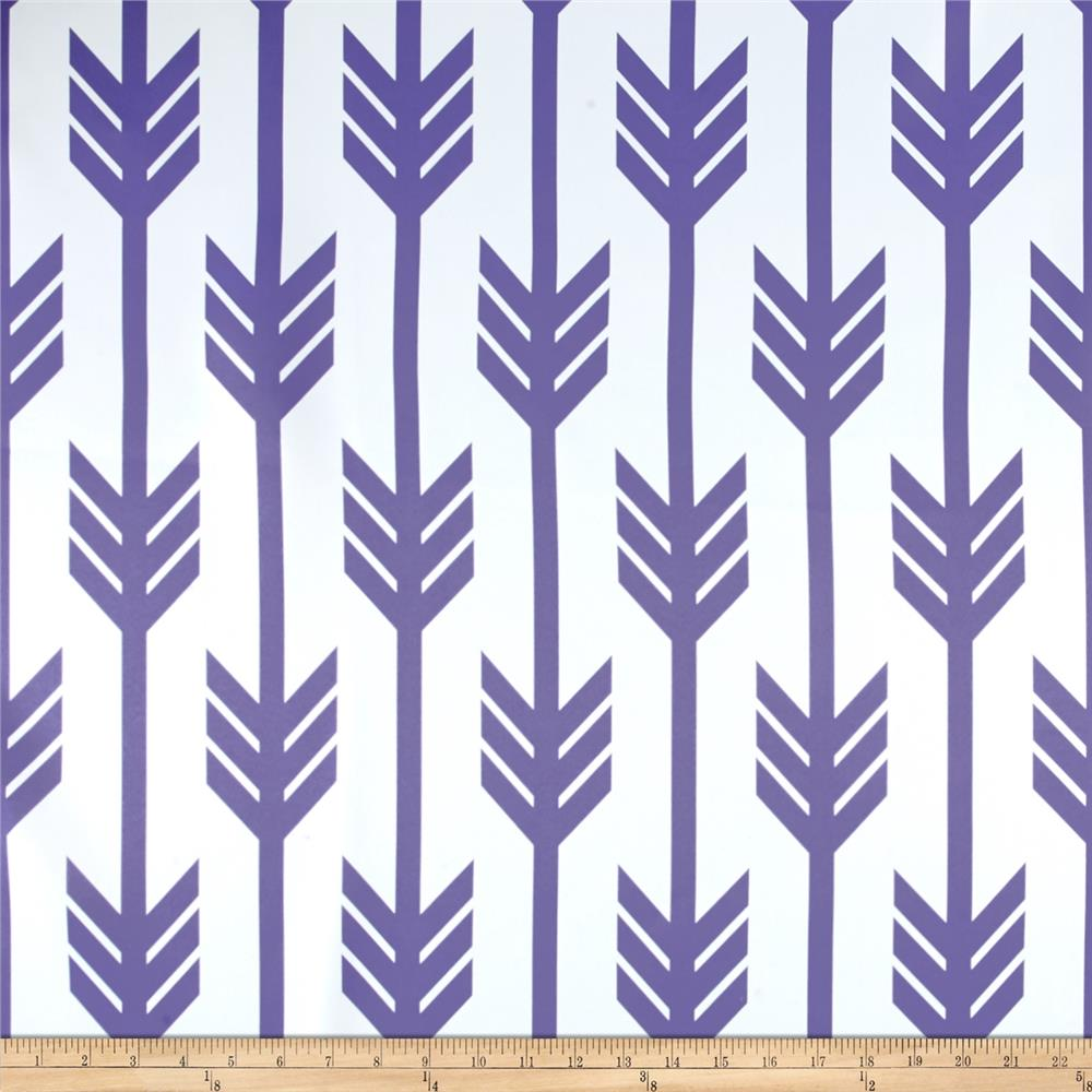 RCA Arrows Blackout Drapery Fabric Purple