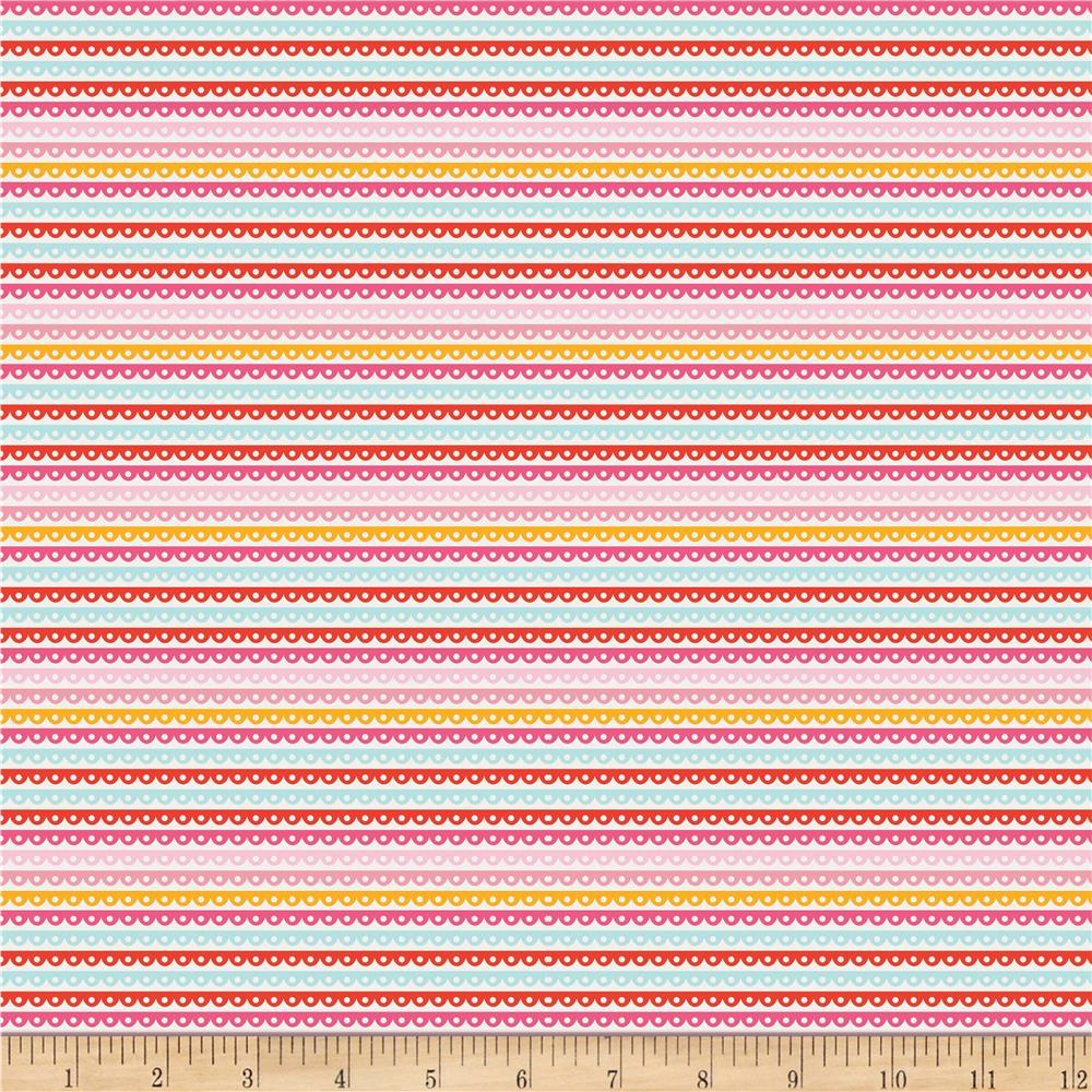 Riley Blake Girl Crazy Stripe Pink