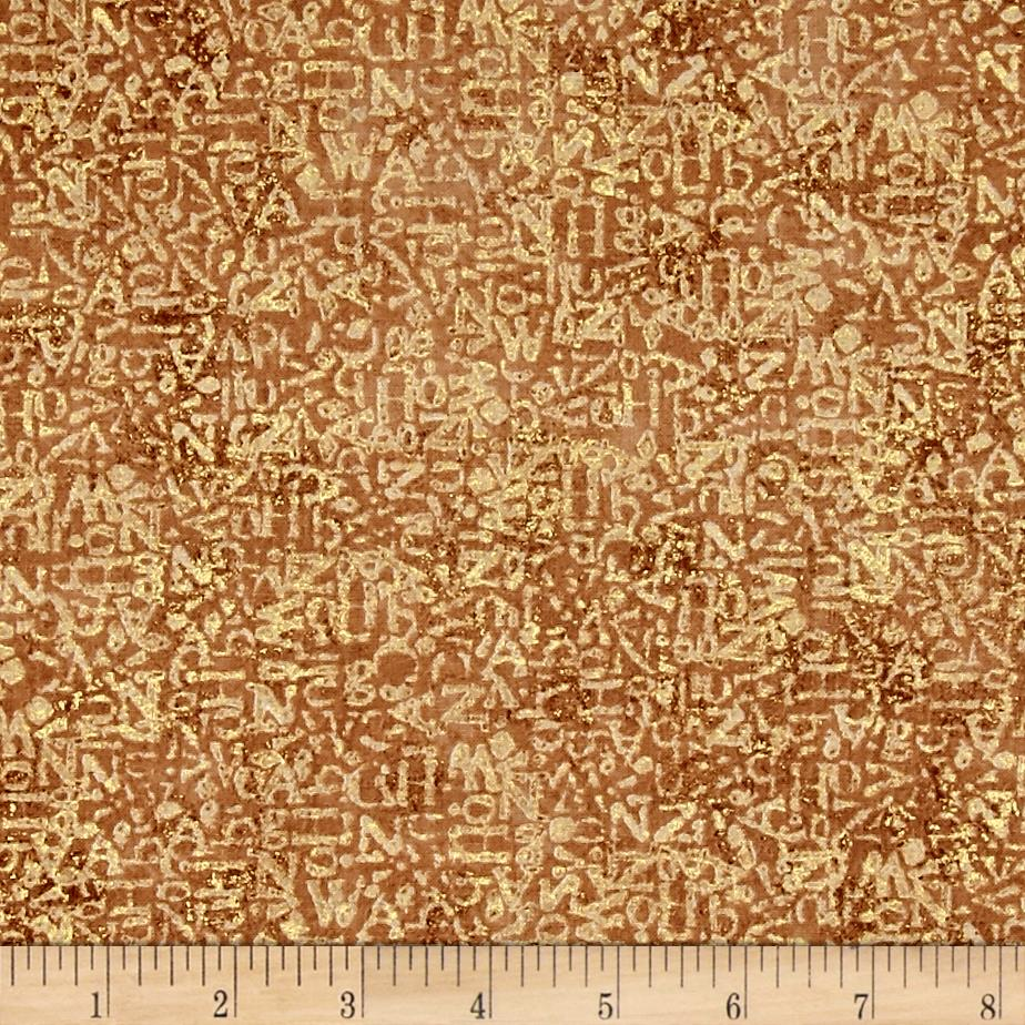 Earthtones 2 Graffiti Texture Metallic Tan