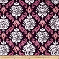 Joel Dewberry True Colors Damask Violet Fabric