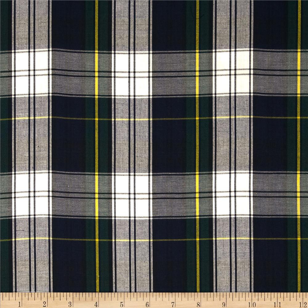 Kaufman House of Wales Plaid Blue Fabric