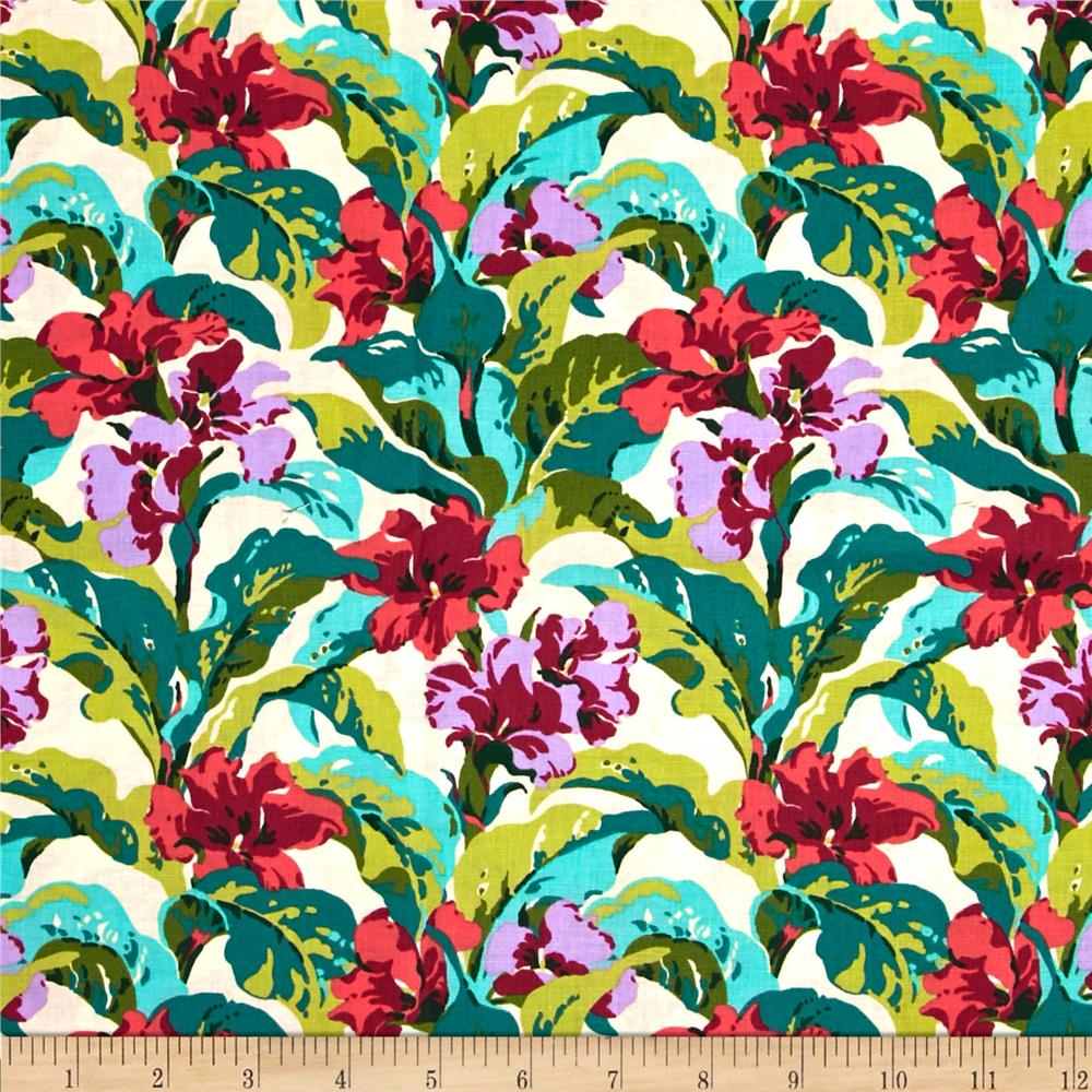 Amy butler bright heart tropi canna coral discount for Cheap fabric material