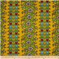 April Cornell Gypsy Dance Folklore Stripe Yellow