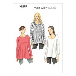 Vogue Misses' Tunic Pattern V8952 Size 0Y0