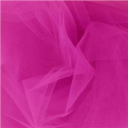 108'' Wide Nylon Tulle Fuchsia Fabric