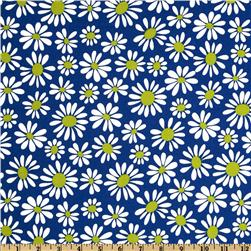 Crazy Daisy Small Daisy Bloom Blue/Citron