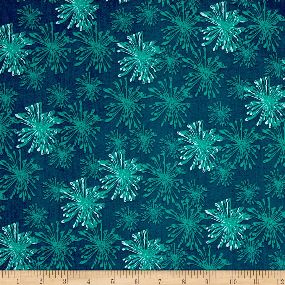 Handmaker sparkle night sky discount designer fabric for Night sky print fabric