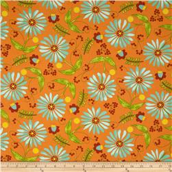 Moda Bobbins & Bits Flowers & Berries Tangy Orange