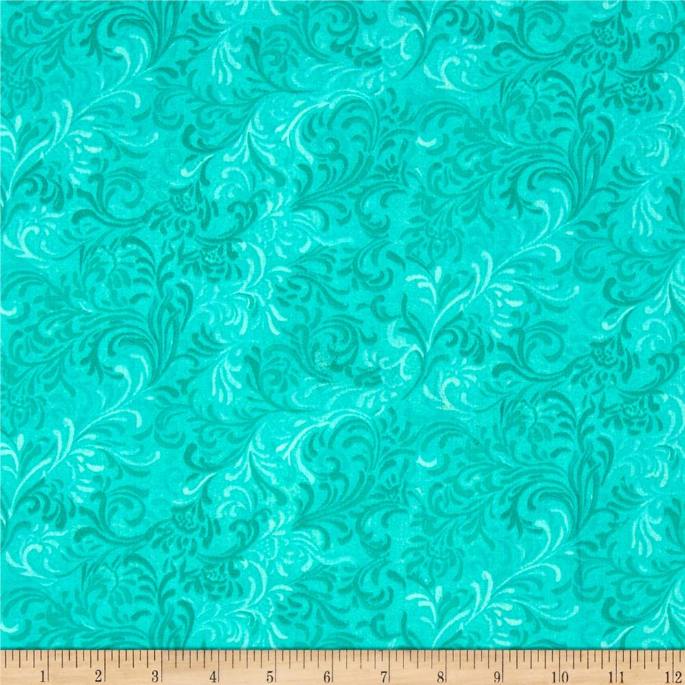 "Essentials 108"" Wide Quilt Back Flourish Aqua"